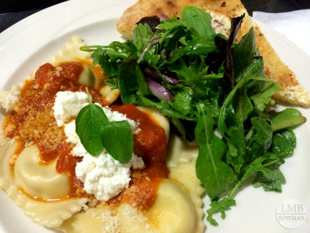 Here was one of my favorite meals this week: San Marzano sauce with ricotta and spinach ravioli.