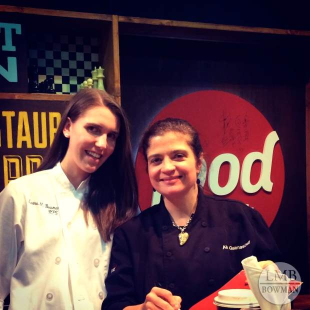 Met Alex Guarnaschelli and got her to sign a copy of her new book.