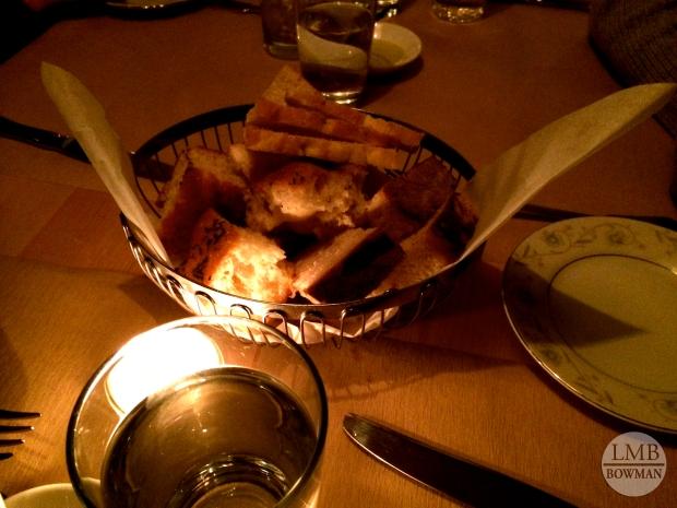 The focaccia bread was delicious