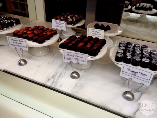 We stopped at Oliver Kita's Chocolate Shop in Rhinebeck.  He is a CIA grad.  All the chocolates in his store look like handcrafted pieces of glass - they are stunning.  The pictures do not do them justice.