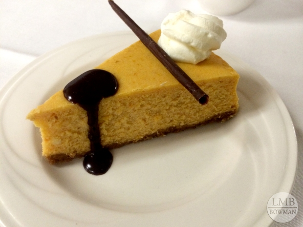 Shared this pumpkin cheesecake one night...yum!