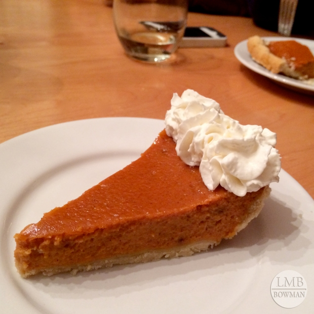 My mom made a yummy pumpkin pie for dessert