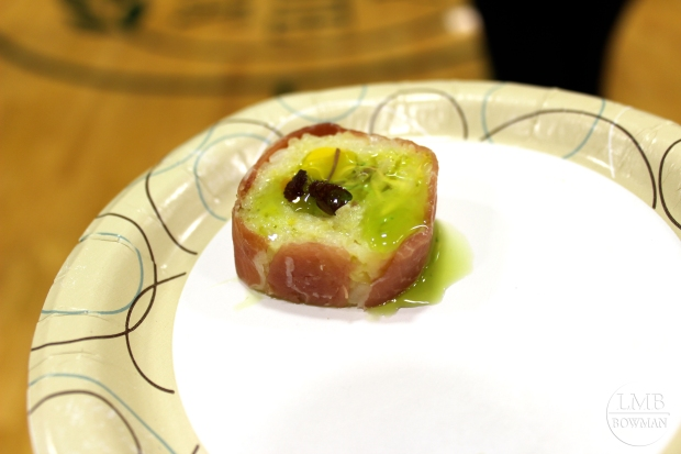 Serrano ham sushi