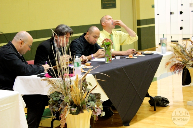 No food competition is complete without a judging table lined with chefs