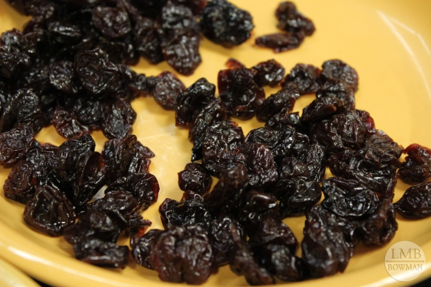 Dried Bing cherries - a good way to enjoy fruit when it is not in season.