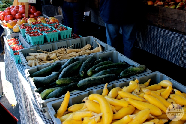 Even though it is nearing the end of season for most produce the farmer's market was still plentiful with fresh fruits and veggies