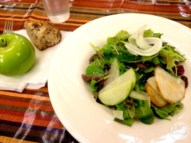 On night a kitchen was offering a fall salad with pears, pecans and an apple cider vinaigrette.  It was very good.
