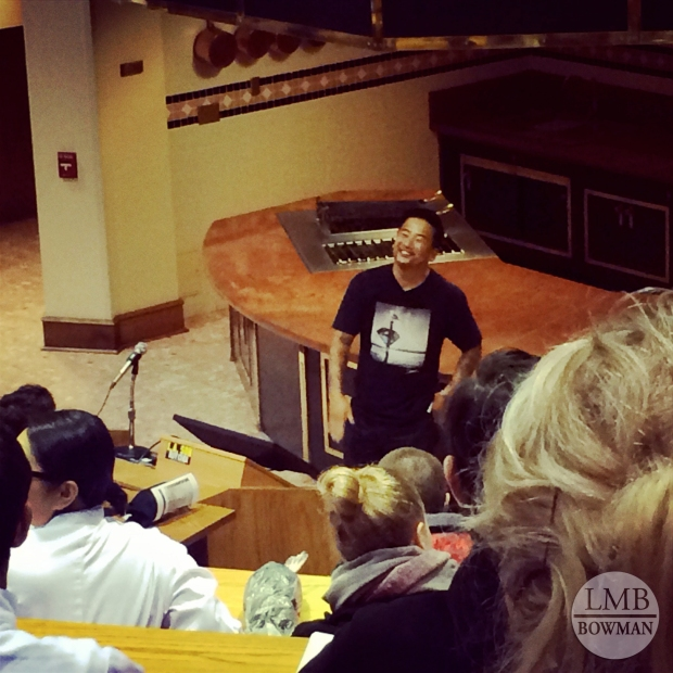 Lecture and question and answer session with chef and restauranteur Roy Choi.
