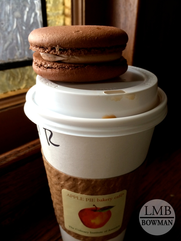 An afternoon pick me up after Fundamentals all morning! Coffee and chocolate hazelnut macaroon!