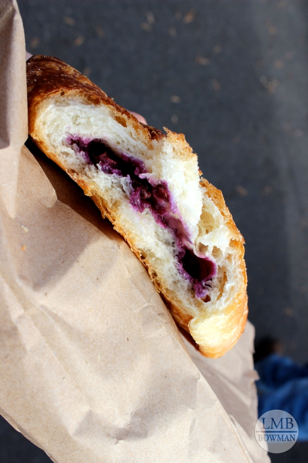 This turnover was crunchy on the outside and flaky on the inside with a yummy blueberry filling.