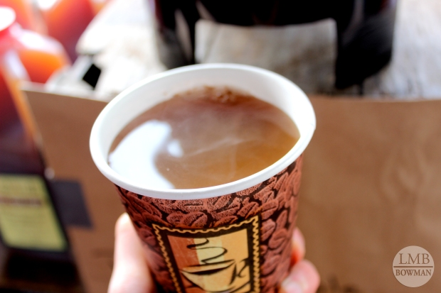 This piping hot cider was the perfect solution for staying warm while walking around the farmers market.