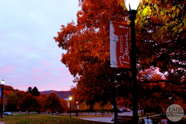 Our campus is so beautiful, especially in the fall.