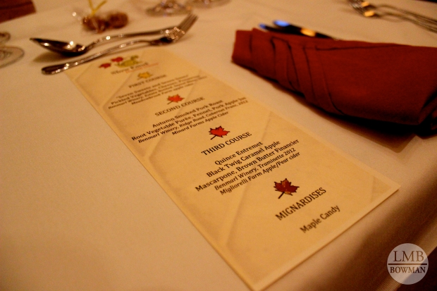 Fall harvest dinner menu