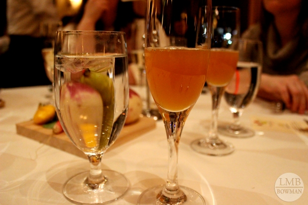 The last cider pairing was a tart apple pear cider from Migliorelli Farm.