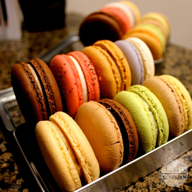Macarons from school for dessert.