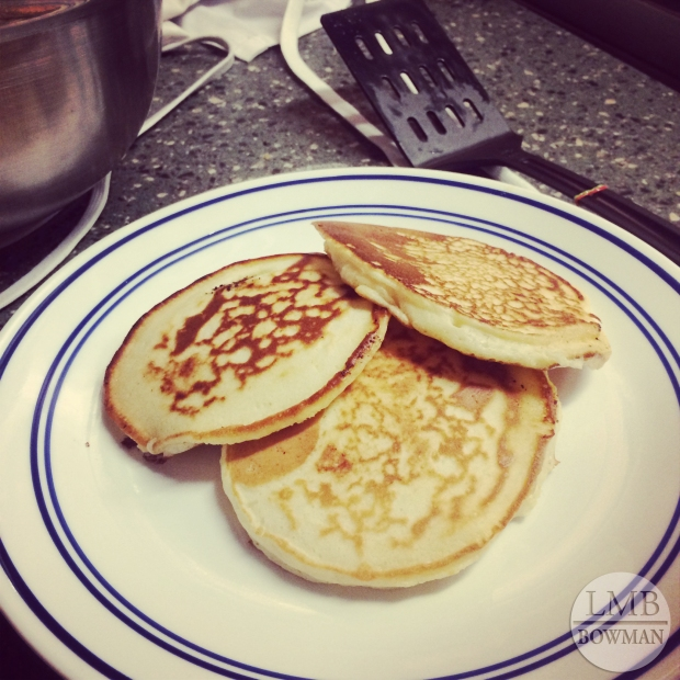 Saturday night my friends and I decided to make pancakes for dinner.