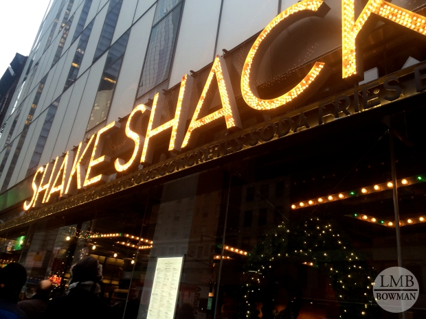 Before the show we went to Shake Shack! It was my first time eating at Shake Shack.  I was excited to try it out after reading the CEO Danny Meyer's book: Setting the Table.  His book discusses his business model for his Union Square Hospitality Group, which Shake Shack is a part of.