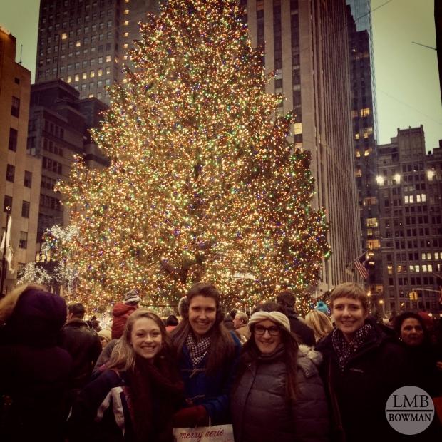 At the Christmas tree in Rockefeller Center