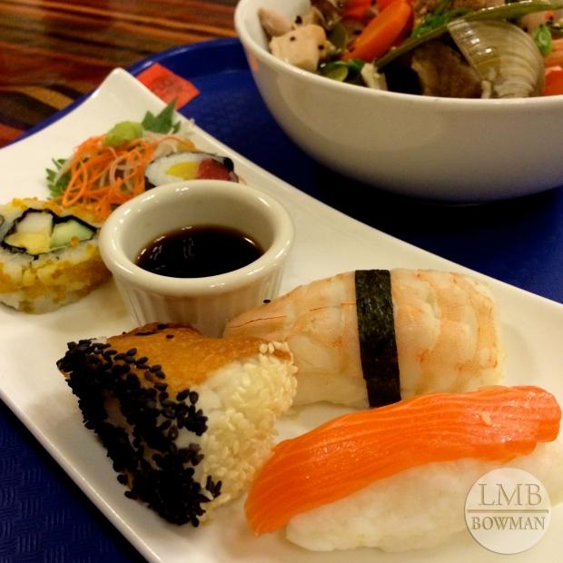 Sushi and sashimi sampler.