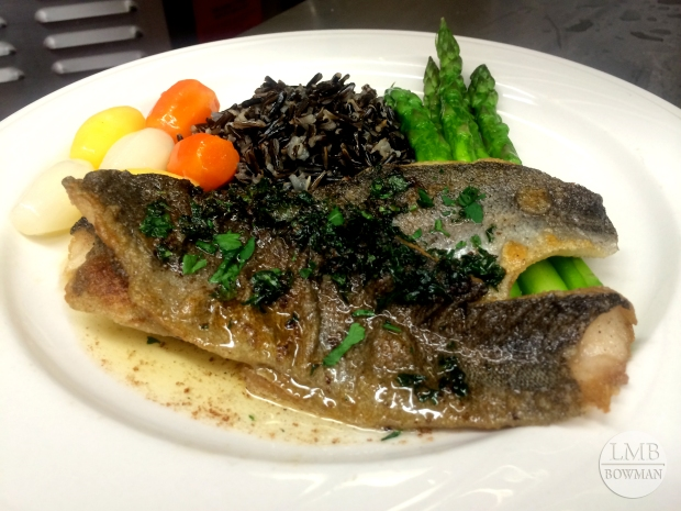 Trout meuniere is trout finished with a brown butter, parsley and lemon sauce