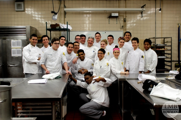 A picture of my class on the final day of Fundamentals with our chef.