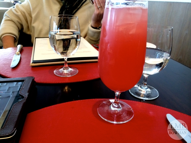 Lunch at Bocuse. House-made spiced cranberry orange soda.