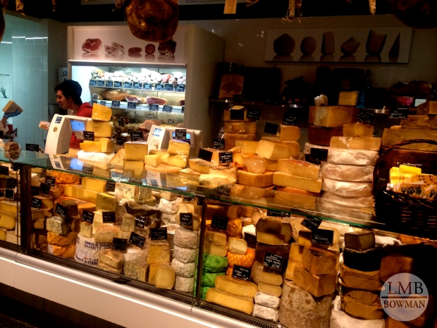 The cheese counter at Eataly.
