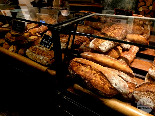 Bread counter at Eataly.