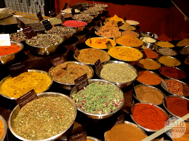 Spices galore! It smelled amazing!
