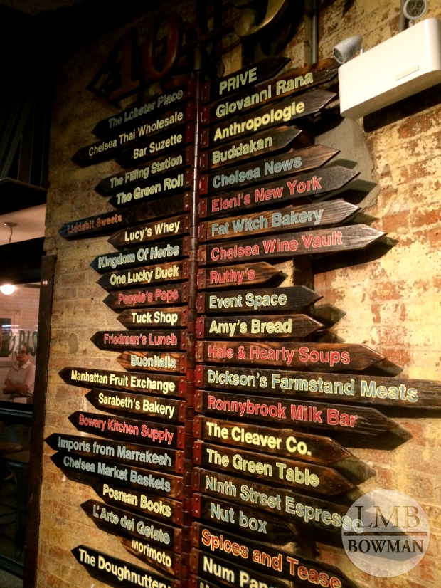 So many great places to check out for food in Chelsea Market.