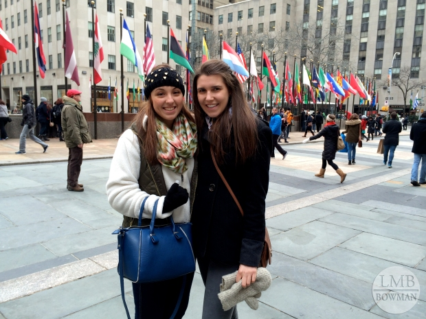 My friend Anna and me in Rockefeller Center.