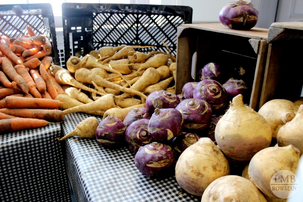 Root vegetables: carrots, parsnips, kohlrabi, and turnips.