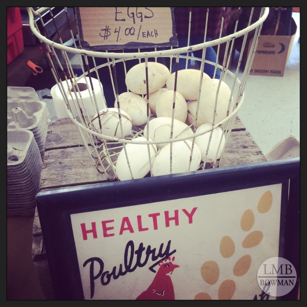 Geese eggs at the Rhinebeck Indoor Farmer's Market
