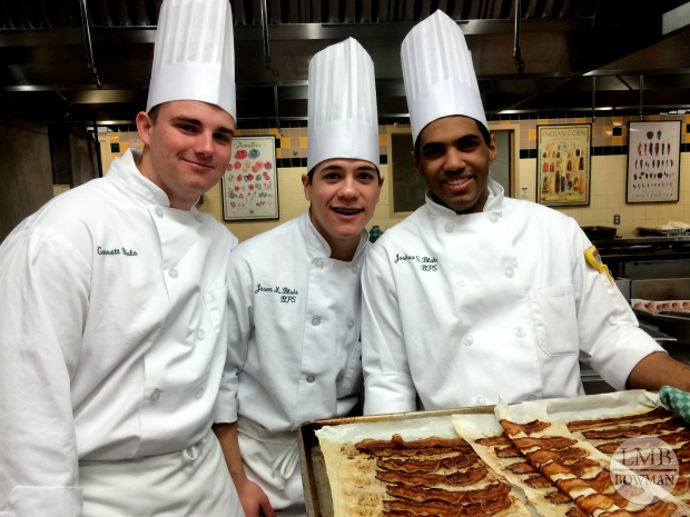We baked about 600 pieces of bacon one day for our buffet